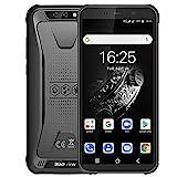 Blackview BV5500 Plus (2020) Outdoor Smartphone ohne Vertrag Android 10, 5,5 Zoll Display 3GB RAM+32GB Speicher, 4400mAh Akku, IP68 Wasserdicht, NFC, Face ID, 4G Dual SIM Günstige Handy (Schwarz)