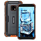 Blackview BV4900 Pro (2021) Outdoor Smartphone ohne Vertrag Günstige 5,7 Zoll HD+ Display 4GB/64GB, 128GB Erweiterbar 5,580mAh 13MP+5MP Android 10 Dual SIM 4G Handy - NFC/Face ID/OTG/GPS/IP68 - Orange