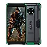 Blackview BV4900 Pro Günstige Outdoor Smartphone ohne Vertrag (4GB RAM, 64GB Speicher, Android 10, 13MP+5MP Kamera, 5580mAh, 5.7 Zoll HD+ Display, Dual SIM, NFC, OTG) IP68 Wasserdicht Handy Grün
